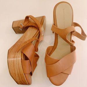 Zara Chunky Wooden Heels